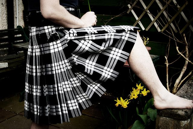 Clan MacFarlane Black and White Tartan  I want to wear this