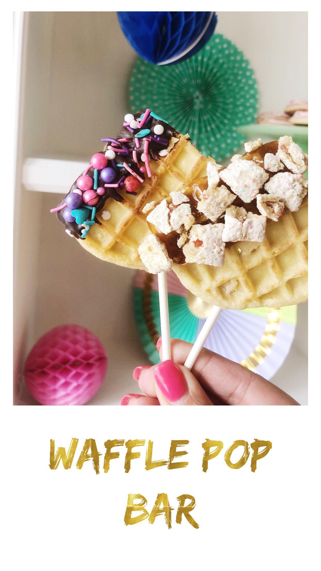 Blogiversary celebration eggo waffle pop bar waffle