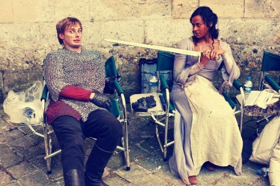 Merlin | Bradley and Angel as Arthur and Gwen.