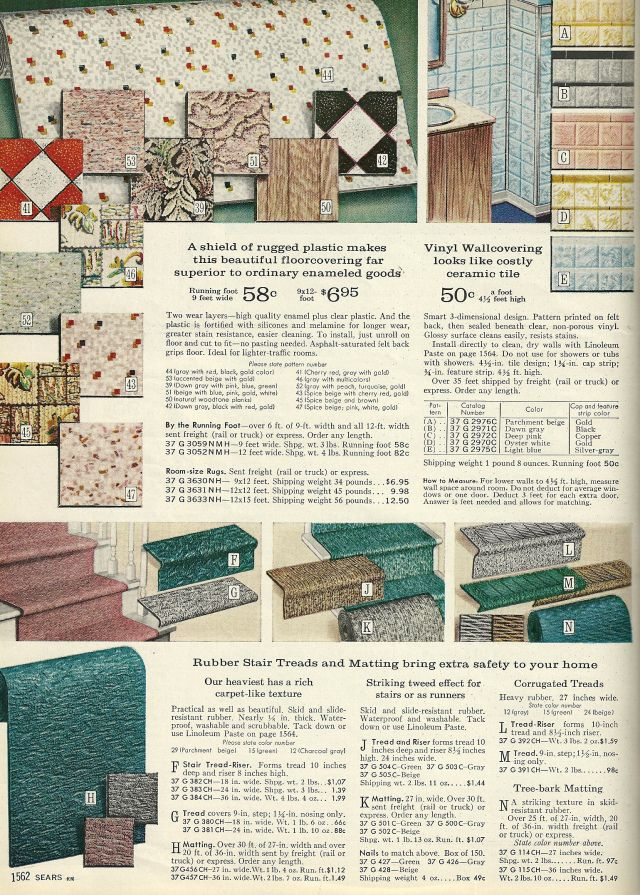 Vintage Home Decorating 1960s Floor Tiles And Vinyl Vintage House Vintage Home Decor Vintage Home Accessories