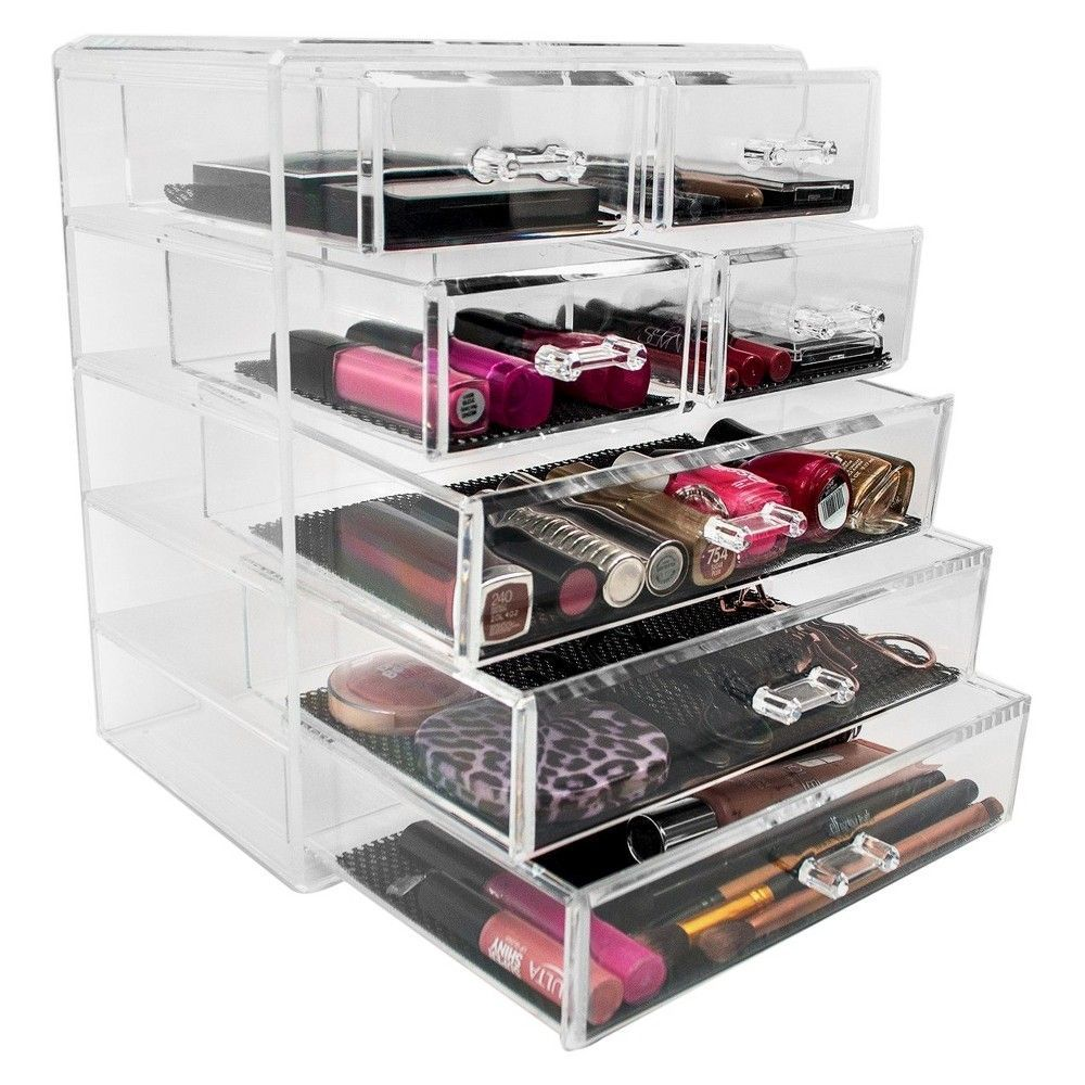 Sorbus Stackable Makeup Storage Display 3 Large And 4