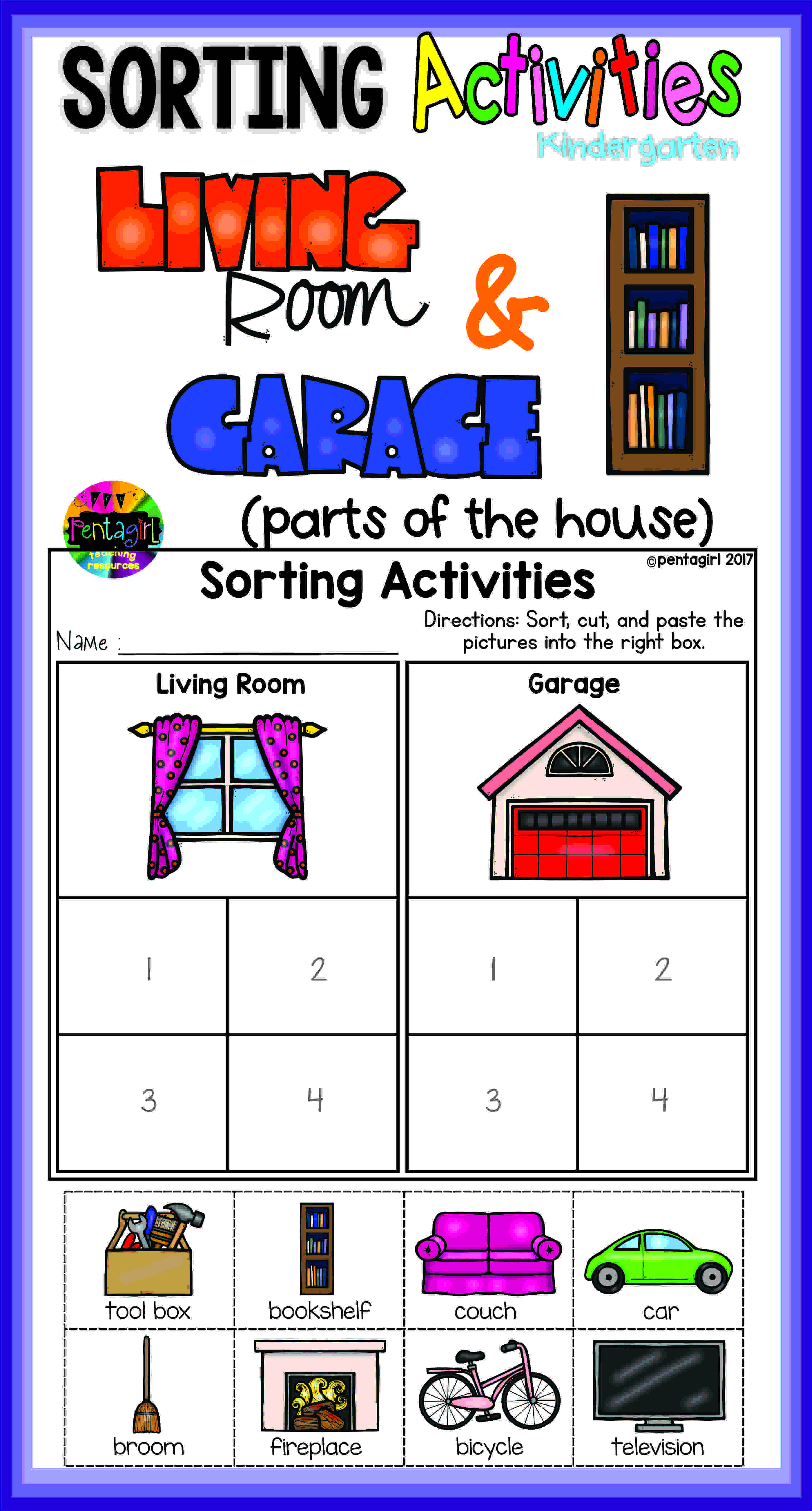 Kindergarten Sorting Activities In This Fun Product The