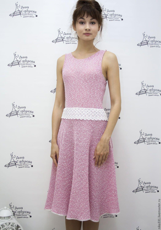 платье с цветами схемы