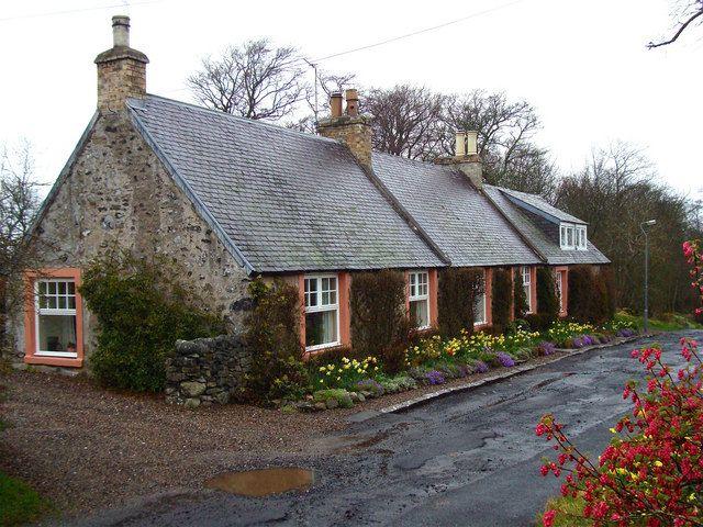 Cottages at Smailholm village
