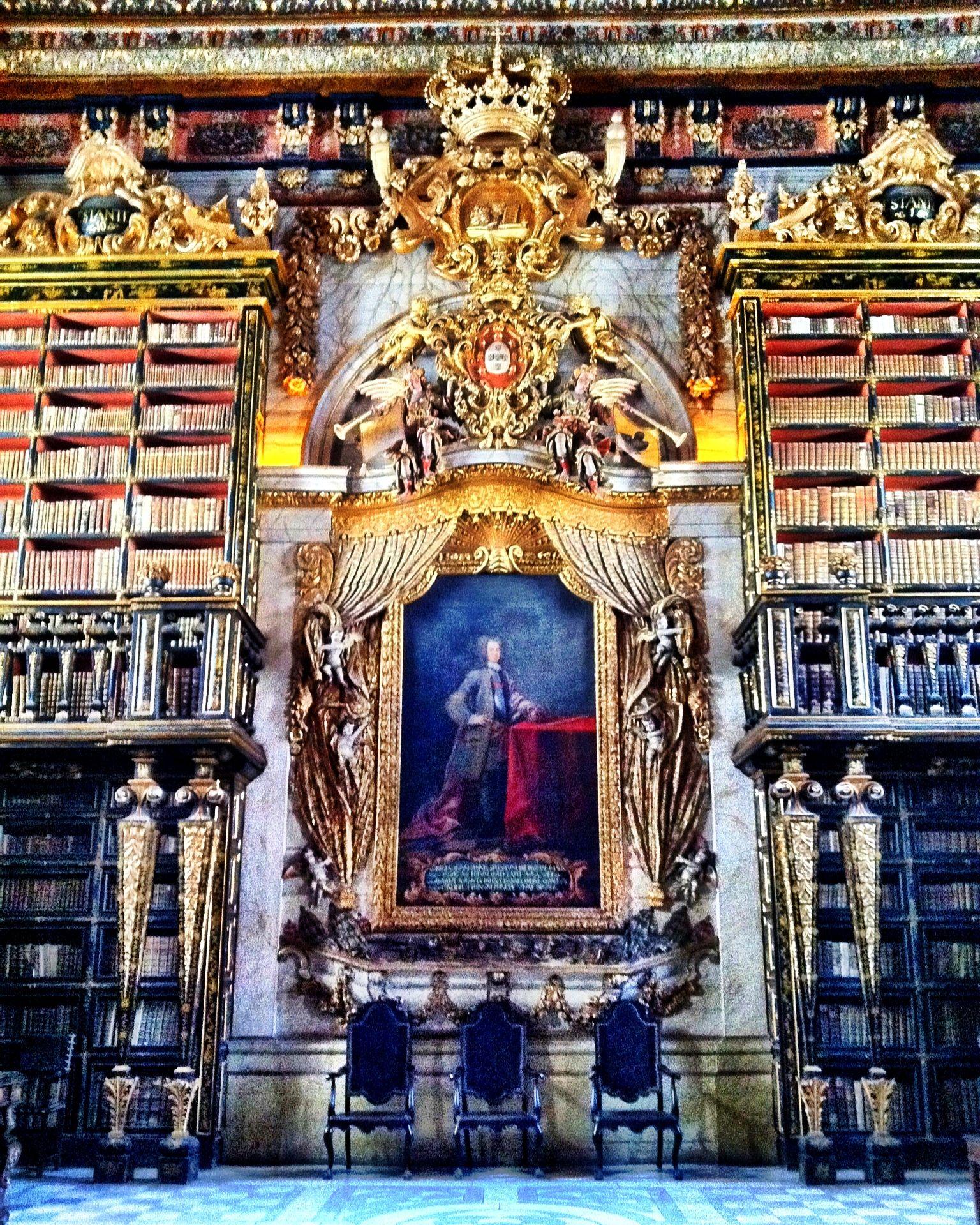 Biblioteca Joanina Universidade De Coimbra Coimbra Portugal