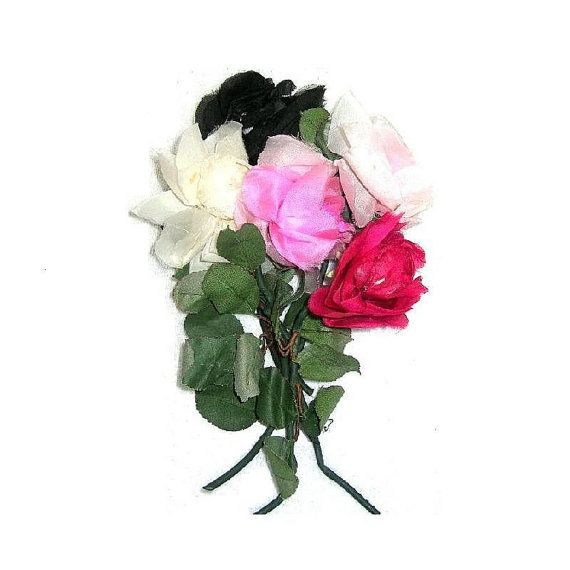 Vintage Bouquet Of Big Millinery Flowers x 5 Floral by xurple, $18.00