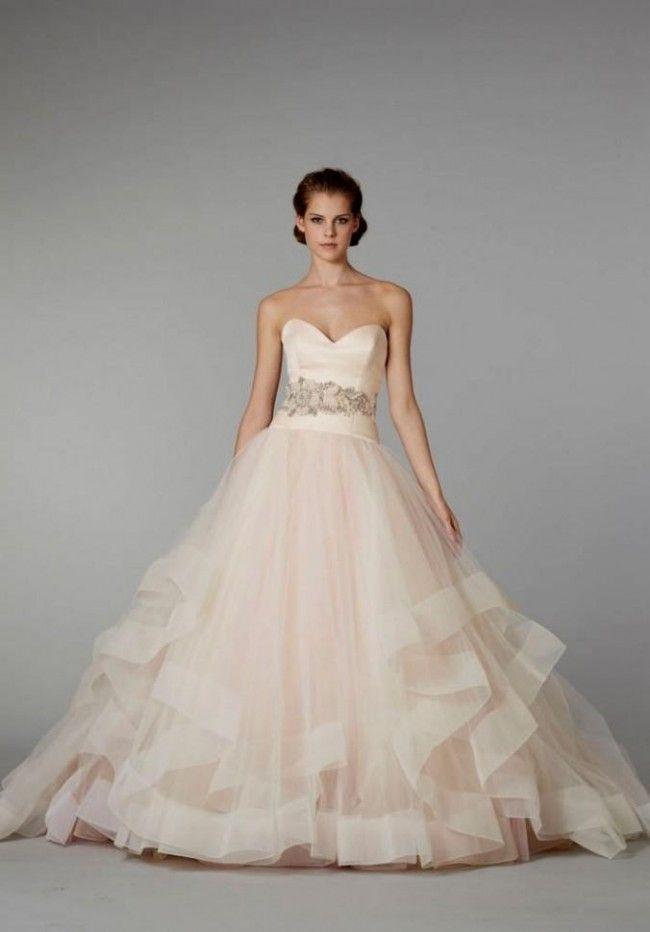 Lazaro Sherbert Ball Gown Lazaro Style 3250 Wedding Dress Blush