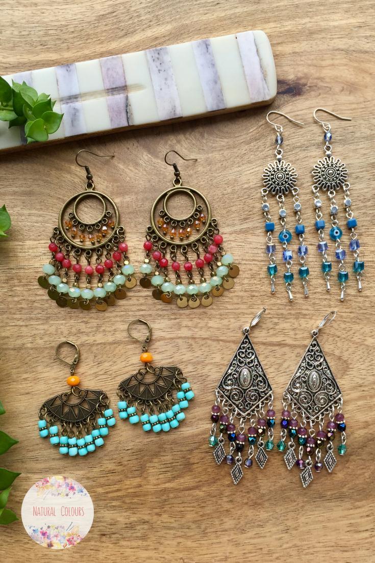 Boho Earrings Gypsy jewelry Gemstone Earrings Chandelier Earrings Bohemian Jewelry Statement Earrings Tribal Earrings Gift for women