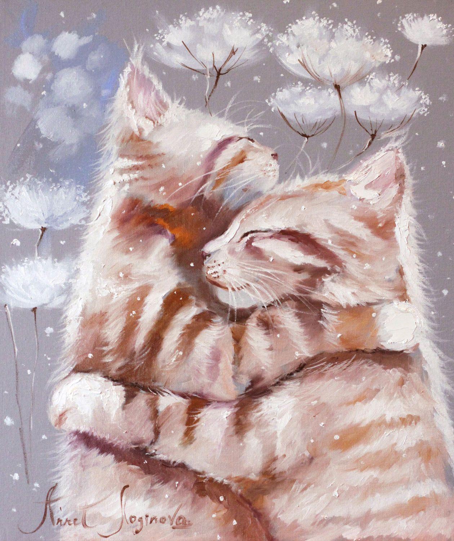 россии красивые рисунки котов и кошек пара слабый