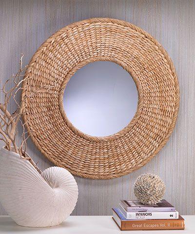 Seagrass Round Wall Mirror Idei Domashnego Dekora Domashnij Dekor