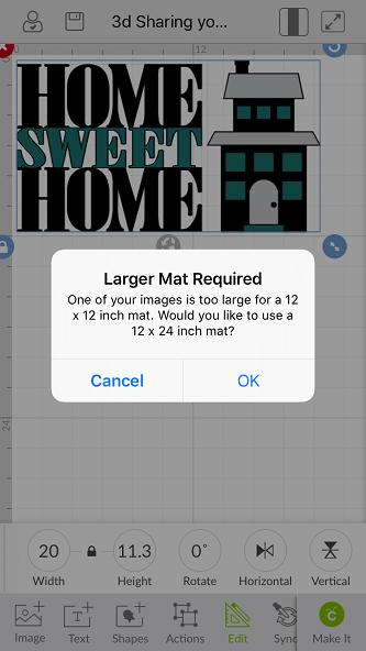 How Do I Change The Mat Size In Design Space Help Center Mats Large Mats Cricut Mat
