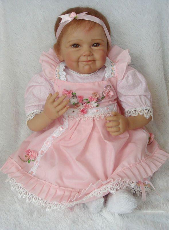 """Handmade Vinyl Silicone Reborn 16/"""" Baby Dolls Lifelike Cute Doll Newborn"""