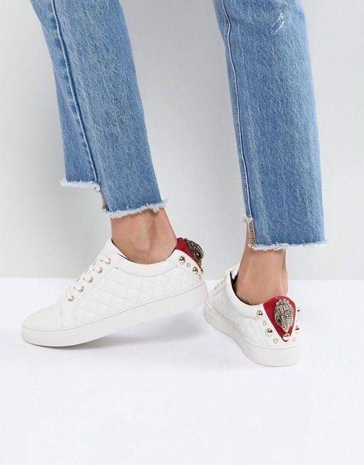 Zapatillas de deporte con rayas y lateral metalizado de Miss KG Kurt Geiger mCUZk