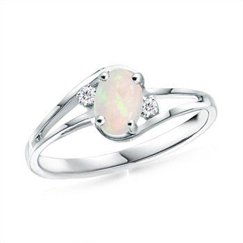 Angara Opal Engagement Ring in Yellow Gold Rv4lxKoKP
