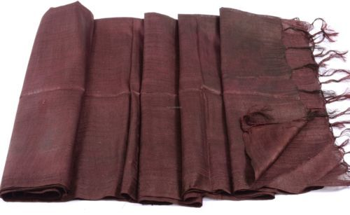 Indian-Handwoven-Fine-Soft-Pure-Silk-Cotton-Weave-Stole-Scarf-Shawl-76-034-x27-034
