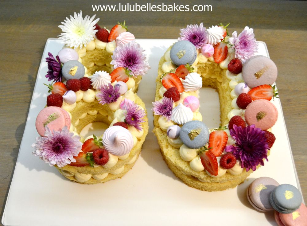 Birthday cakes for Ladies Number cake with fresh fruit