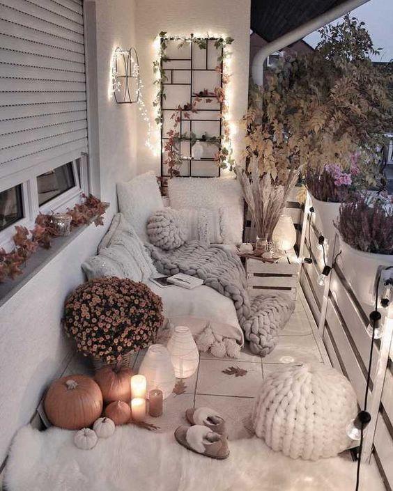 balcony decors, cozy balcony design, small balcony design, romantic balcony idea…