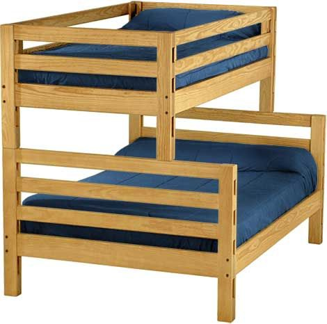 Solid Wood Bunk Bed Ladder Design Single over Double