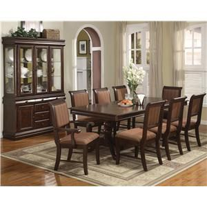 Charming And Elegant Designs Are Found This Dining Set A Double