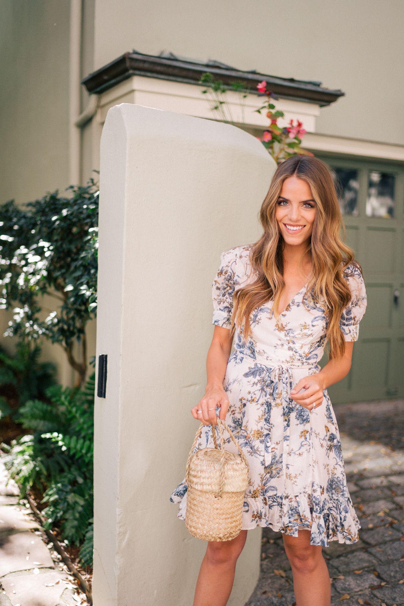 720647e739 Gal Meets Glam Floral Wrap Dress -Ralph Lauren Denim & Supply dress & Doen  bag