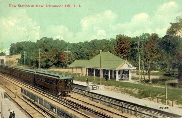 Richmond To Kew Gardens By Bus: The Long Island Railroad Station At Kew, North