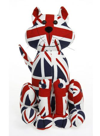 union jack cat door stopper..I want this so much since I'm cat lady & an Anglophile, the perfect gift!