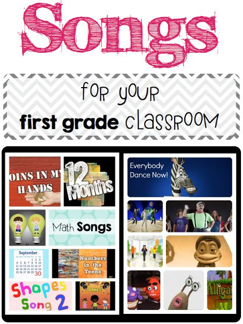 Classroom Break Ideas : Songs for your first grade classroom a day in