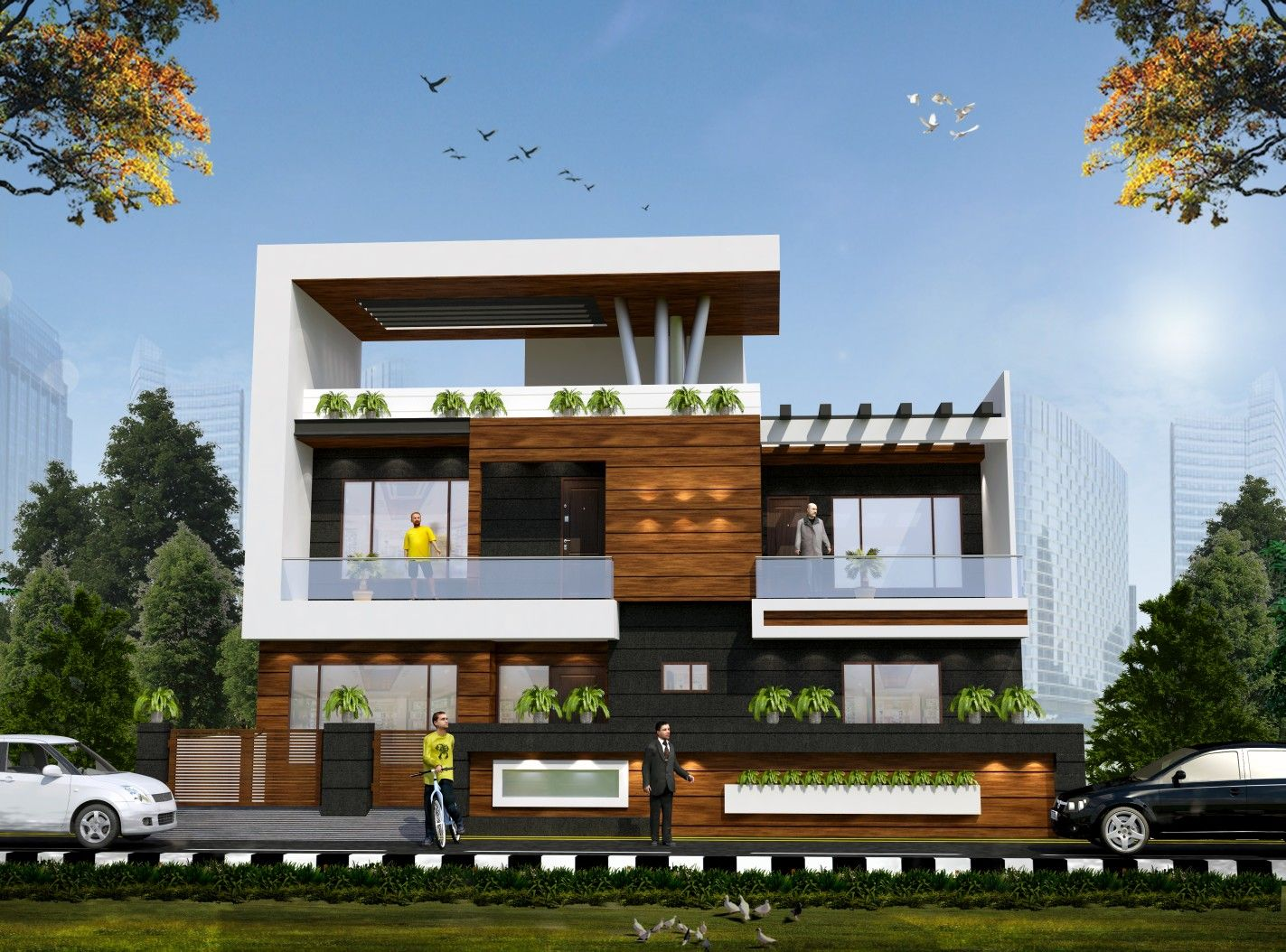 Pin by Arya 3d on 3d elevation | Small house elevation ...