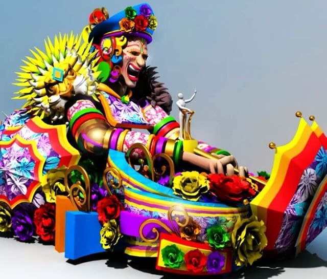 Ya Viene La Batalladeflores Estas 26 Hermosas Carrozas Disenadas Por El Equipo Creativo De Carrozas De Carnaval Carnaval Barranquilla Carnaval