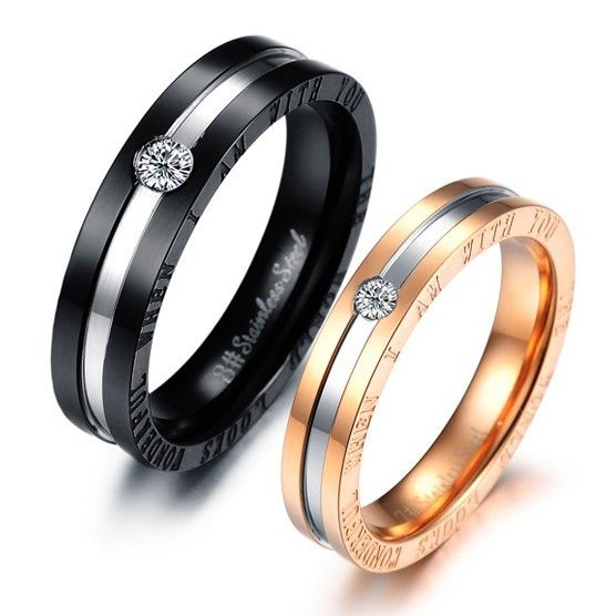 Matching Promise Rings for Him and Her Set of 2 Couples Wedding