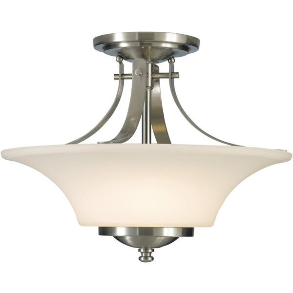15w barrington 2 light semi flush mount brushed steel lampsusa