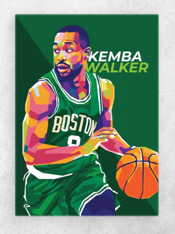 Kemba Walker Poster Art Print By Gilang Bogy Displate Pop Art Illustration Boston Celtics Wallpaper Pop Art Portraits