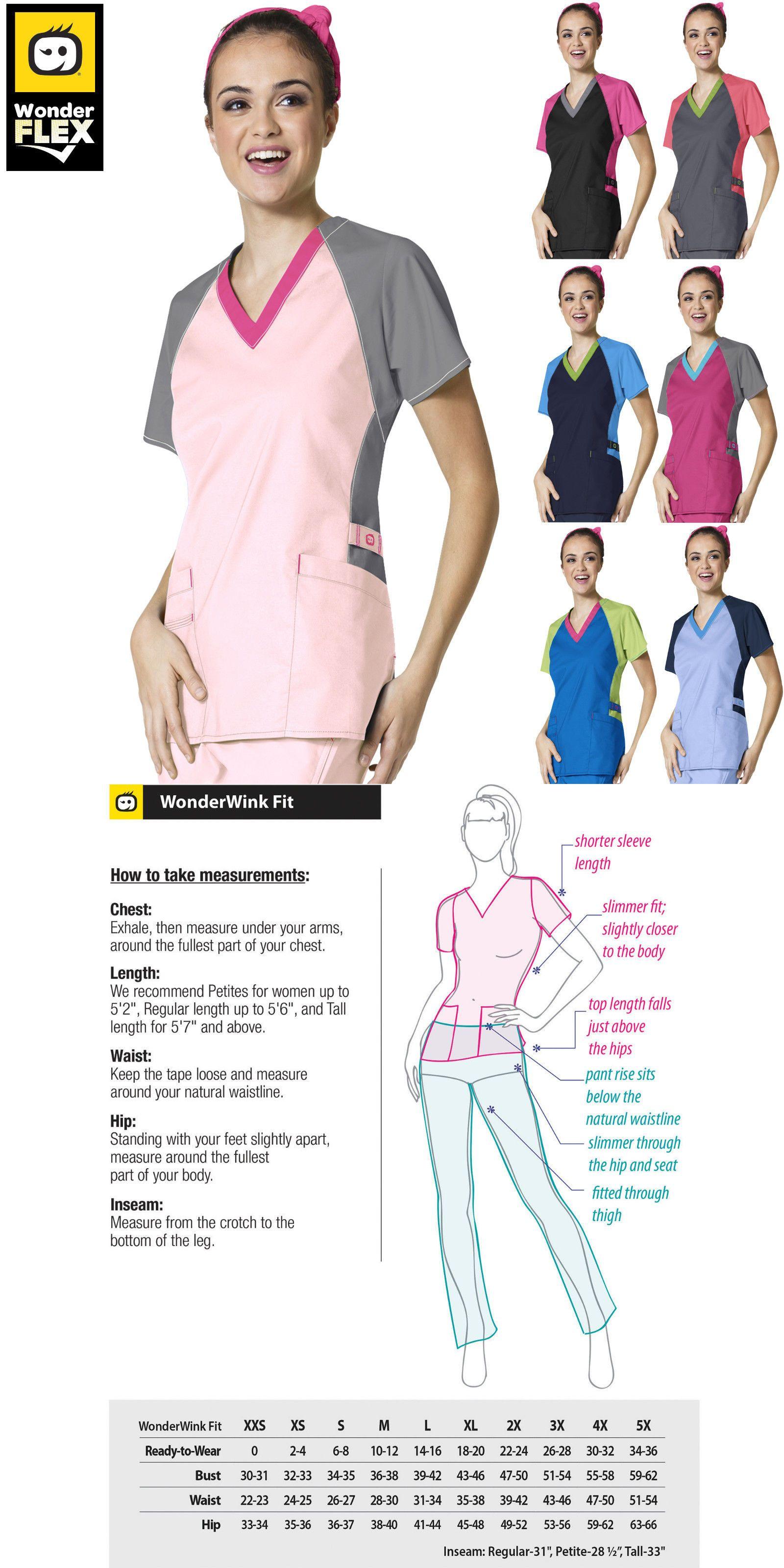 bb3d72e03e2 Sets 105432: Wonderwink Flex [Xxs-3Xl] Women S Medical V-Neck Trinity Color  Block Scrub Top -> BUY IT NOW ONLY: $19.78 on #eBay #wonderwink #women # medical ...
