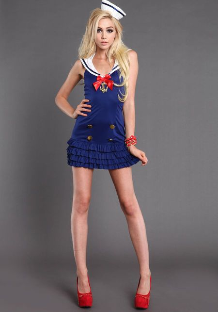 Sweetheart Sailor Costume by Leg Avenue NAVY BLUE large  sc 1 st  Pinterest & Sweetheart Sailor Costume by Leg Avenue NAVY BLUE large | DIYS ...