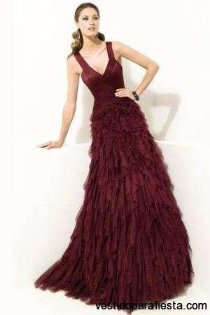Vestidos color vino largos mexico
