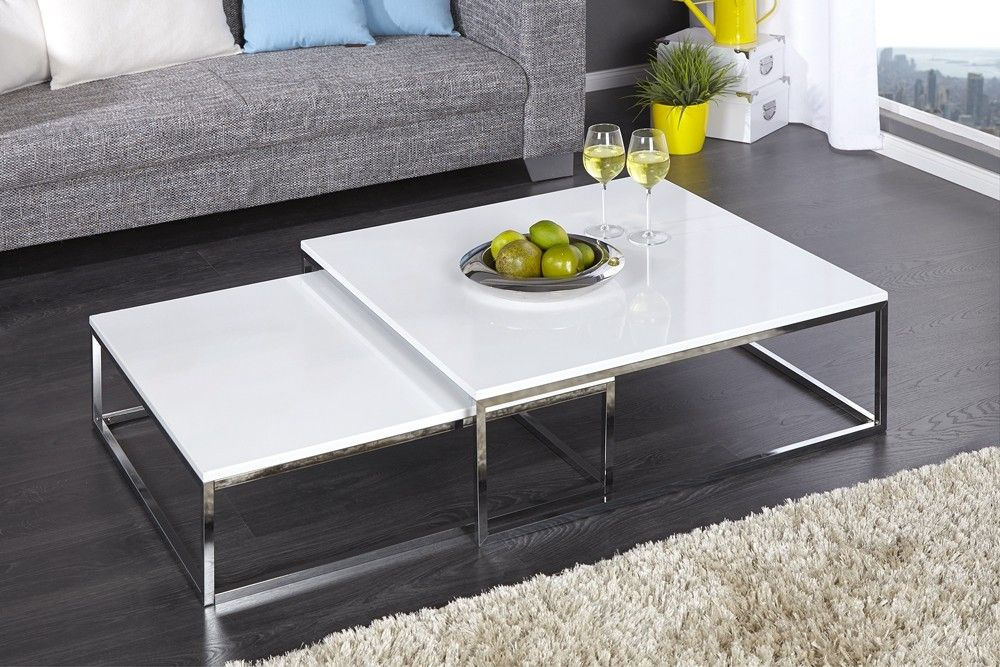 Table Basse Design Pamela Blanc Laque Tables And High Gloss
