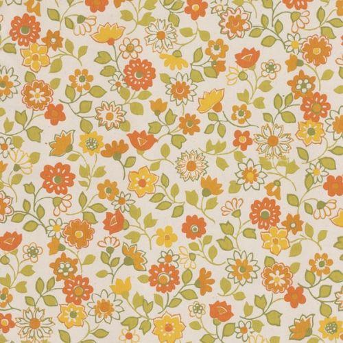 Vintage Floral Vintage Floral Wallpapers Antique Wallpaper Orange Wallpaper