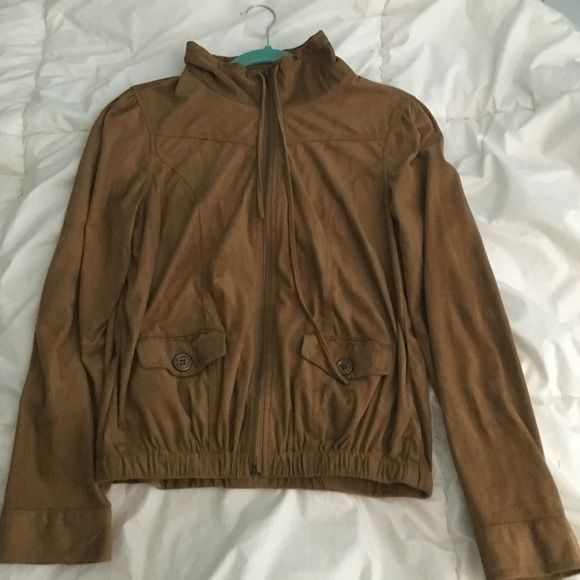 Stylish brown jacket Light weight brown jacket! Super cute for going out! Great condition only worn once!! Wet Seal Jackets & Coats