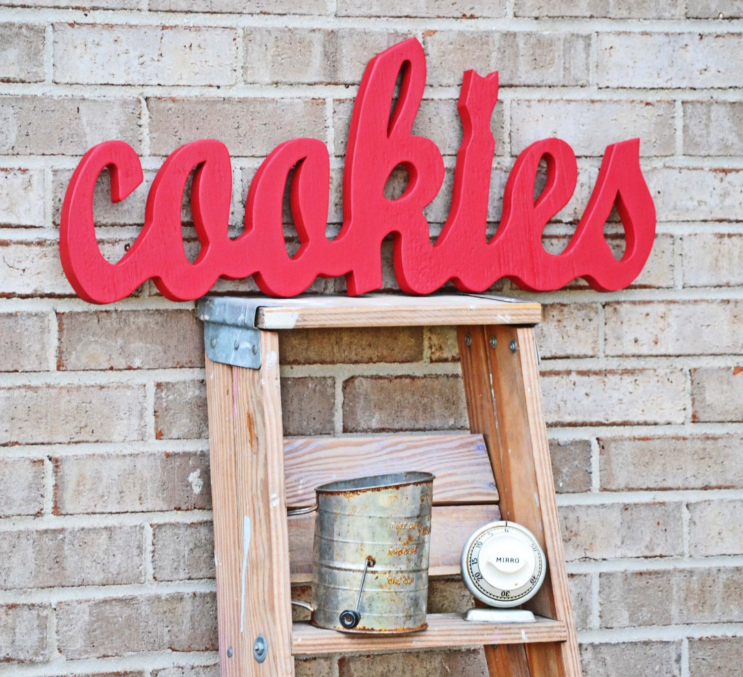 Red Kitchen Decor Sign. $58.00, via Etsy.