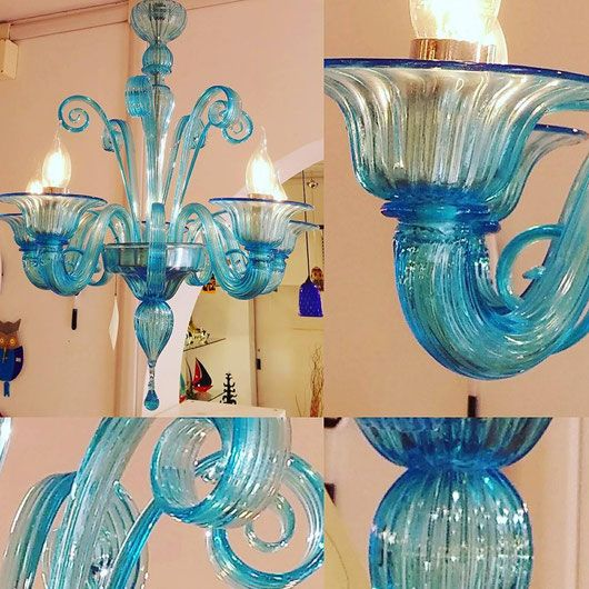 Chandeliers Murano Blown Glass Chandelier Homemade Venice Glass Pastorale Cup Broken Scroll Repair Restore Murano Chandelier Murano Murano Glass