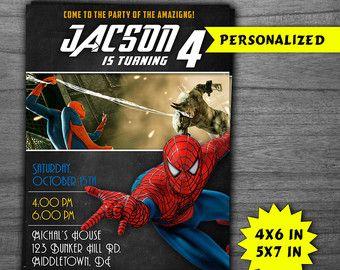 Invitación de cumpleaños de Spiderman por DiemDesignCreations - Visit to grab an amazing super hero shirt now on sal