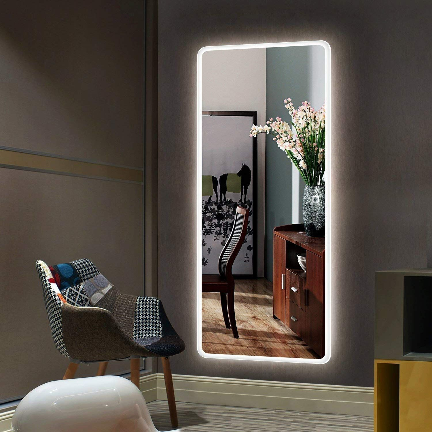 Full Size Floor Mirror Total Size 65 W X 22 H Large Enough For You To See Your Entire Outfit In A Sin Wall Decor Bedroom Mirror Wall Bedroom Room Decor