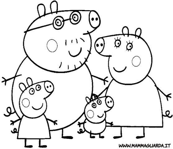 vedi altri disegni di peppa pig da colorare > http://www ... - Peppa Pig Coloring Pages Kids