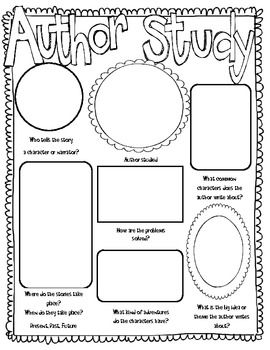 Author Study: Use this poster idea to draw pictures of