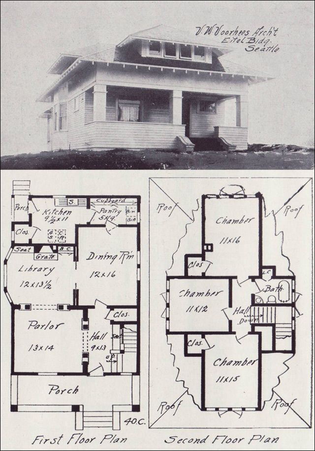 1908 western home builder no 40c oh my house for Western floor plans