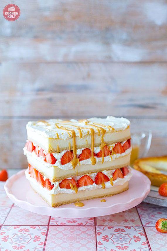 Fruchtige Erdbeer Frischkase Torte Zu Muttertag Rezept Kuchen Und Torten Leckere Torten Tortendeko