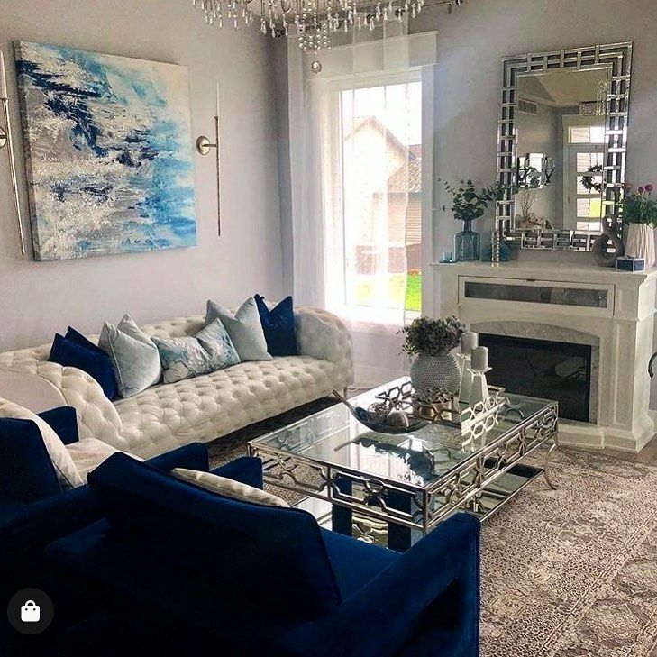 The living room is one of the most important areas in your house for a great hosting experience. Best Living Room Designing Ideas For You | Blue living ...