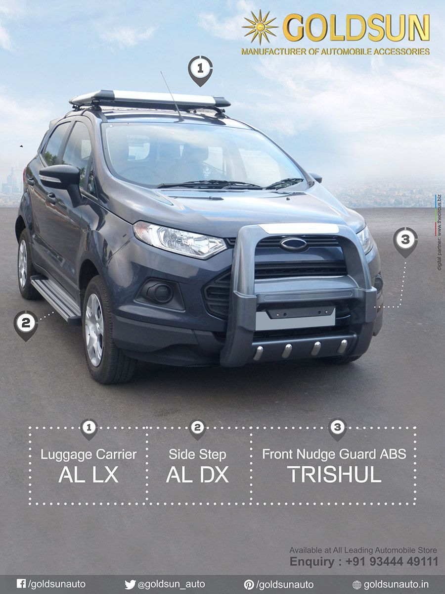 We Goldsun Provide Automobile Accessories Front Bumper Luggage Carrier Sidestep For Ford Ecosport More Indian Ford Ecosport Luggage Carrier Ford Suv