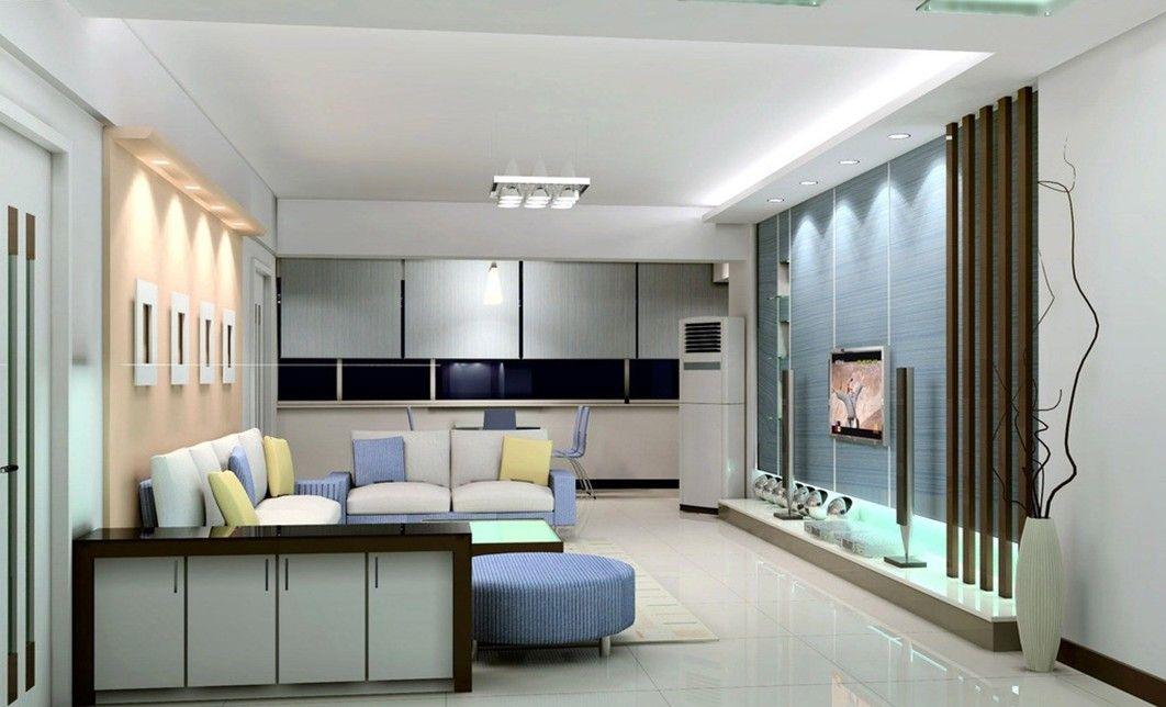 Light Blue Tv Wall Design For Modern Minimalist Living Room Awesome Design Living Room Minimalist Decorating Design