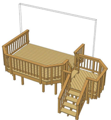 Best 12 X 10 Deck W Stair Landing At Menards Deck Stairs 640 x 480